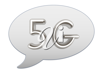 messenger window icon. 5g modern internet network