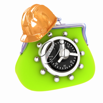 hard hat on purse safe