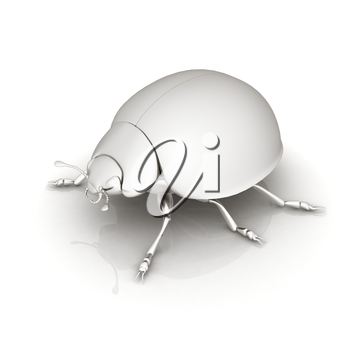 Metall beetle on a white background
