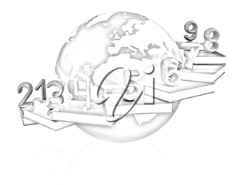 Global Education and numbers 1,2,3,4,5,6,7,8,9 on a white background
