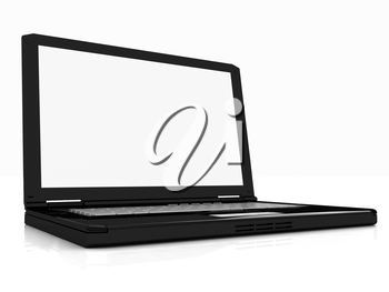 Laptop on a white background