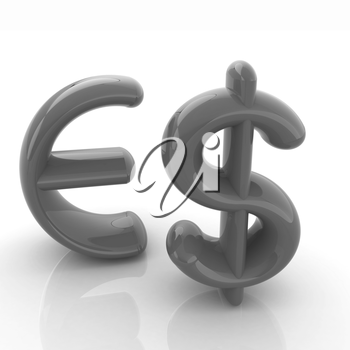 Euro and dollar sign