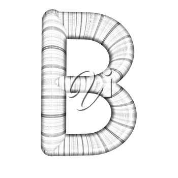 Wooden Alphabet. Letter B on a white background