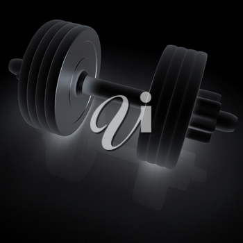 Metall dumbbells on a white background