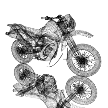3d sport motocross bike