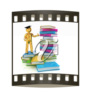 The world is opened for you. Global Education on a white background. The film strip