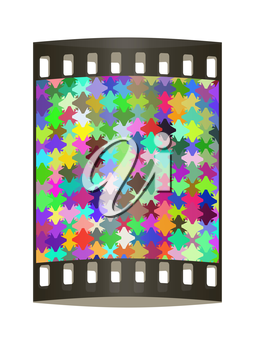 Colorfull pazzle background. The film strip