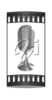 Golden Microphone icon on a white background. The film strip