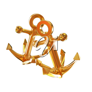 Gold anchors