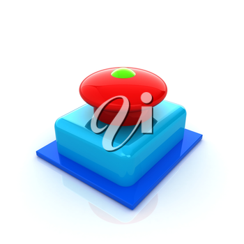 Emergency Button 3d icon