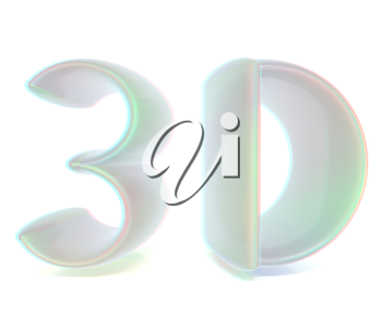 3D text. 3D illustration. Anaglyph. View with red/cyan glasses to see in 3D.