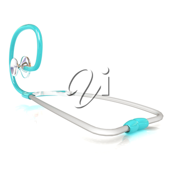 stethoscope. 3d illustration