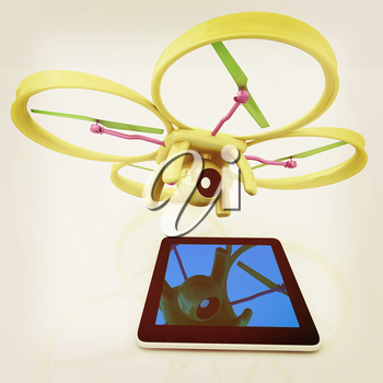 Drone with tablet pc