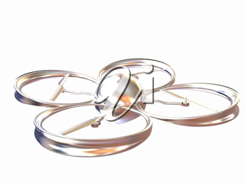 Quadcopter Dron. 3d render