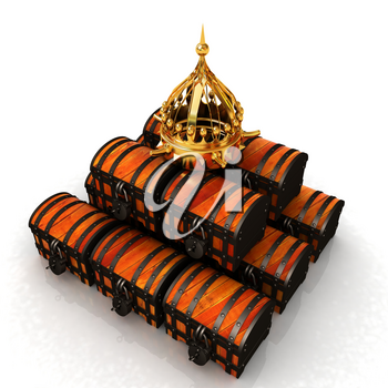 Crown and chest. 3d render