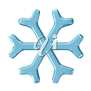 Snowflake. 3d render with HDR