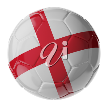Football/soccer ball with flag of England. 3D render