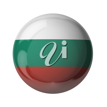 3D flag of Bulgaria isolated on white
