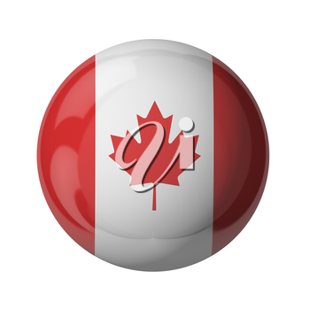 3D flag of Canada isolated on white