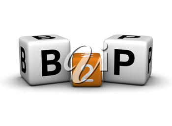 Business To People symbol   (3D crossword orange series)