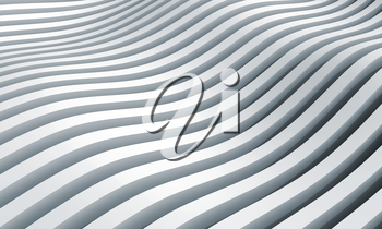 Monochrome abstract 3d wave stripes background
