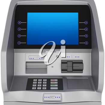 ATM display and keyboard set terminal. ATM for storing money zhidkokrestalicheskim display
