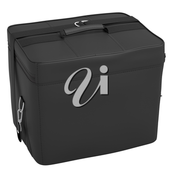 Luggage with handle black on a white background