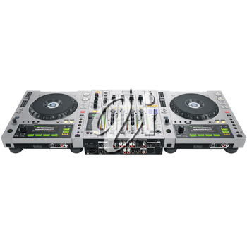 Dj set back cover with the slots and jacks . 3D graphic