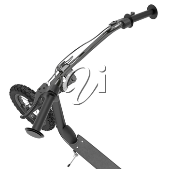 Black chrome-plated wheel scooter with hand brakes