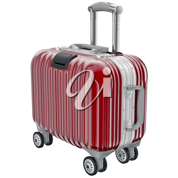luggage for travel. 3D graphic object isolated on white background