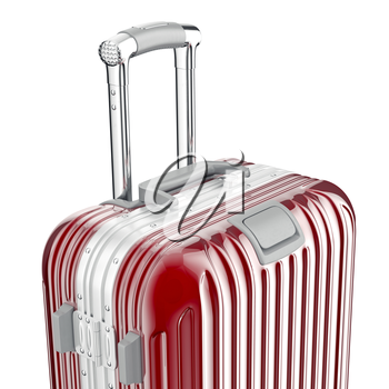 Baggage large, zoomed view. 3D graphic object on white background