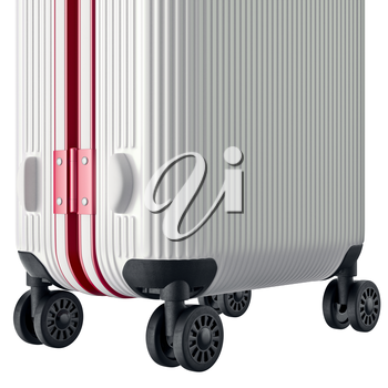 Luggage large, zoomed view. 3D graphic object on white background