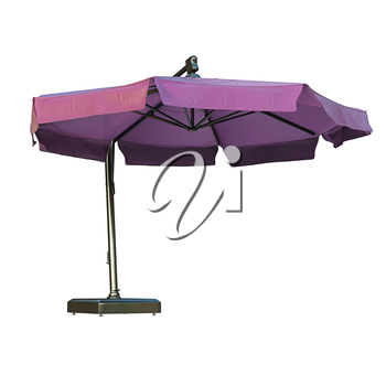 Modern beach umbrella for relax. 3D graphic