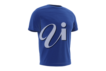 T-shirt blue mens textile clothing. 3D graphic