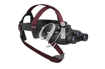 Night vision army tactical aiming instrument. 3D rendering