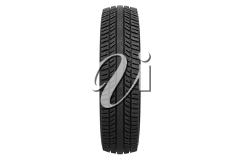 Wheel retro car rubber tire, front view. 3D rendering