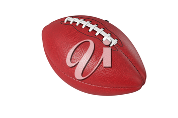 Football american, leather red brown ball sport. 3D rendering