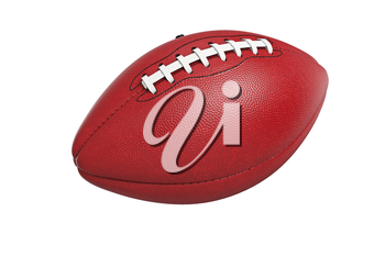 Football american, leather ball equipment. 3D rendering