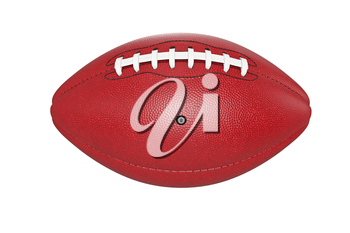 Football american, leather ball object. 3D rendering