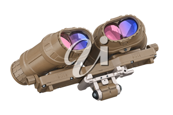 Night vision army military device. 3D rendering
