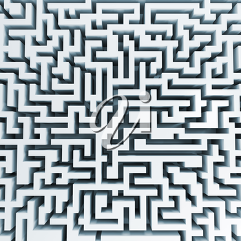 Top view of big white labyrinth