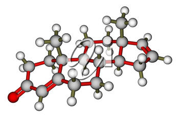 Androstadienone, a strong male-produced pheromone. Molecular structure