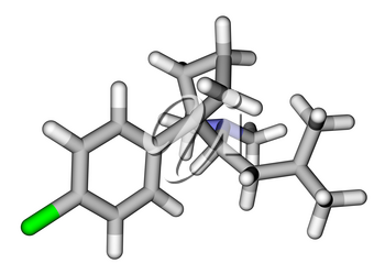 Sibutramine (oral anorexant, obesity treatment) molecular structure