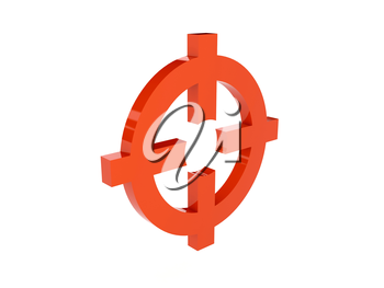 Target icon over white background. Concept 3D illustration.