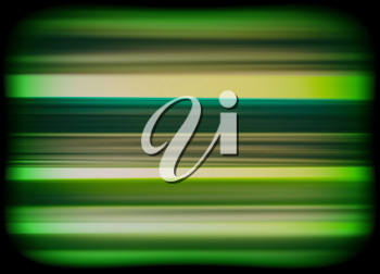 Horizontal vivid green interlaced tv static noise lines abstraction background backdrop