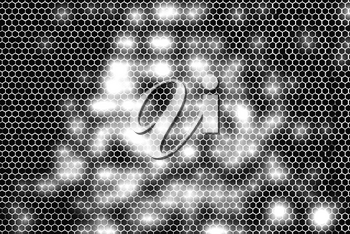 Black and white glowing cell maze  illustration background