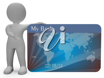 Credit Card Indicating Loan Transaction And Problem 3d Rendering