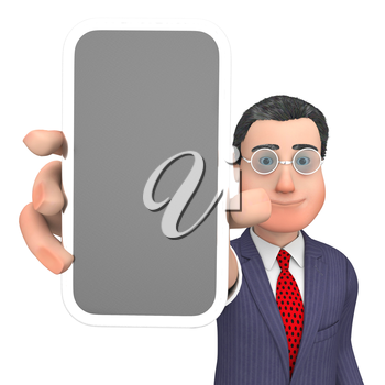 Smartphone Online Meaning World Wide Web And Copy Space 3d Rendering