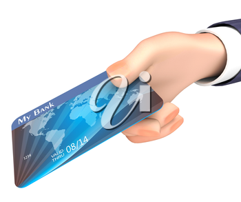 Credit Card Representing Business Person And Trade 3d Rendering