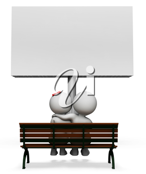 Love Sign Meaning Text Space And Movies 3d Rendering